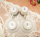 Винтажная фарфоровая кофейная чашка и блюдце, ручная роспись, Венгрия, KALOCSA Porcelain, фото 9