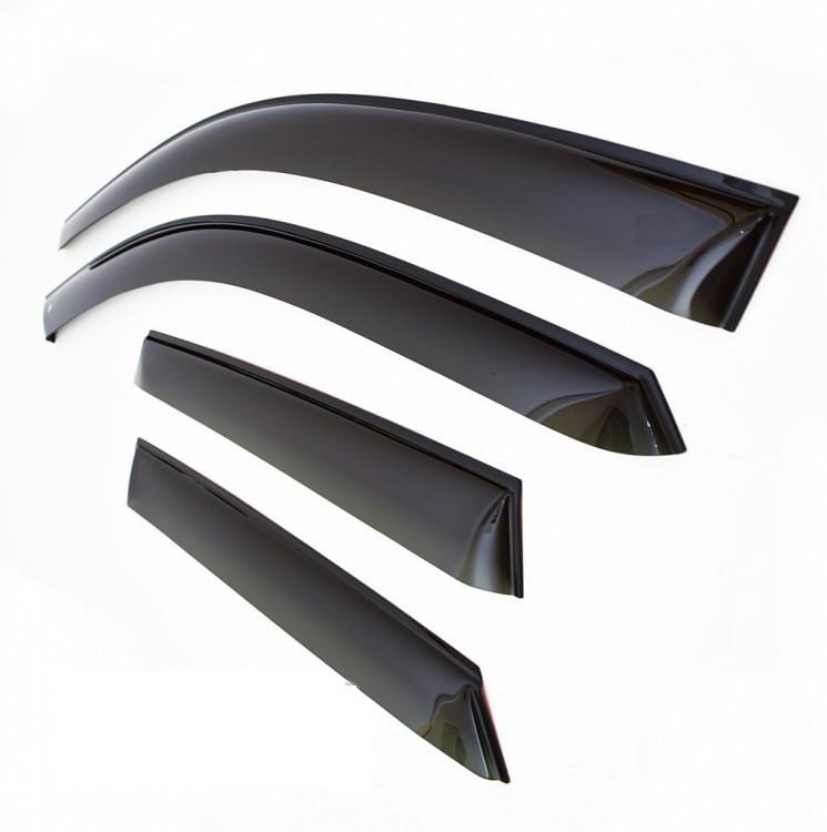 Дефлектори вікон (вітровики) Renault Megane II Sd 2002-2008 (Рено меган 2) Cobra Tuning