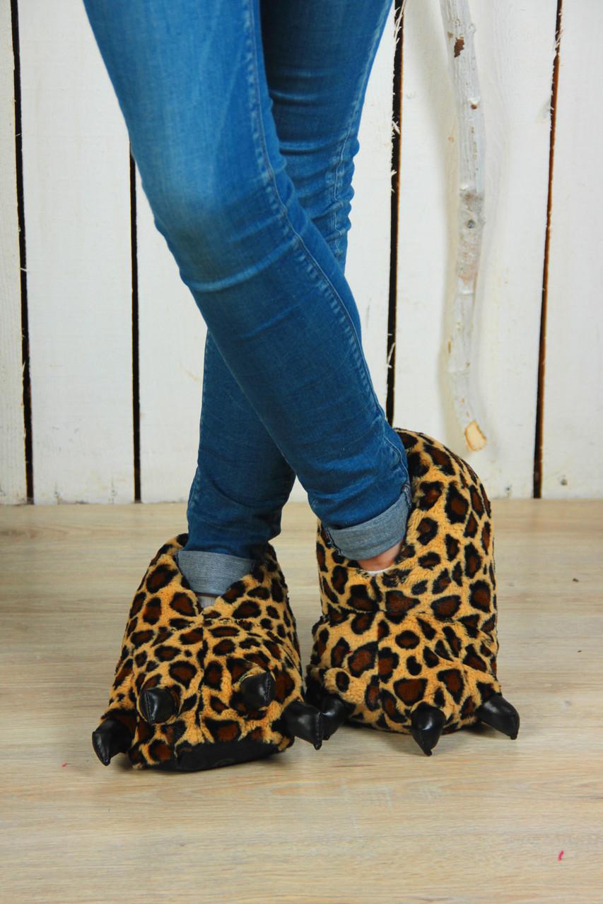 Тапочки-іграшки Леопардові кігті