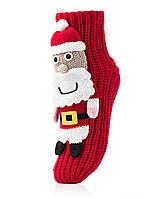 Женские детские носки ATTRACTIVE  3 D игрушка Дед-мороз