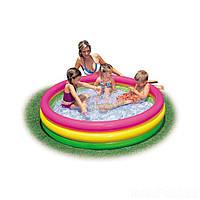 Детский надувной бассейн Intex 57422 «Цвета заката», 147 х 33 см
