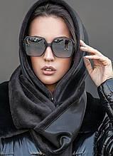 Женская косынка капюшон с камнями  цвет черный