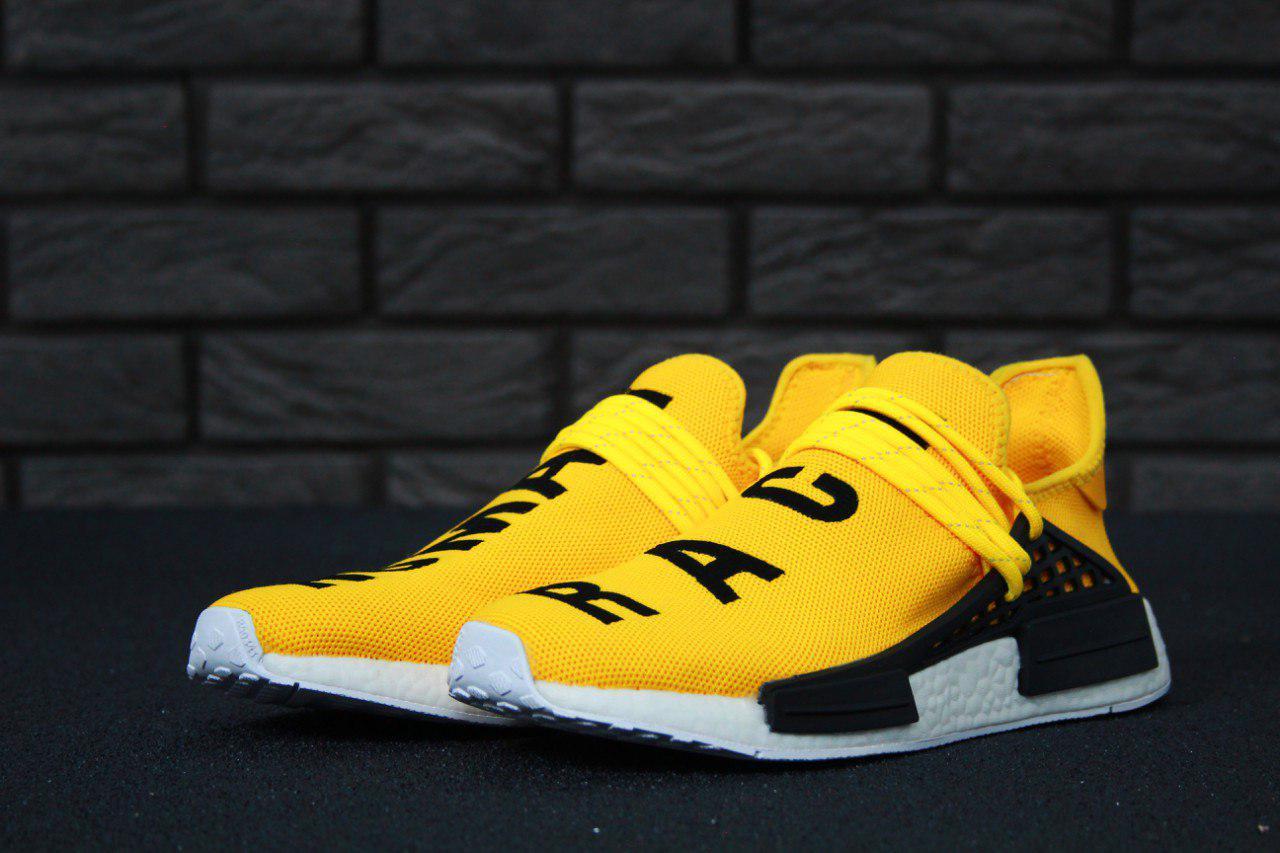 Чоловічі жовті Кросівки Adidas NMD Human Race