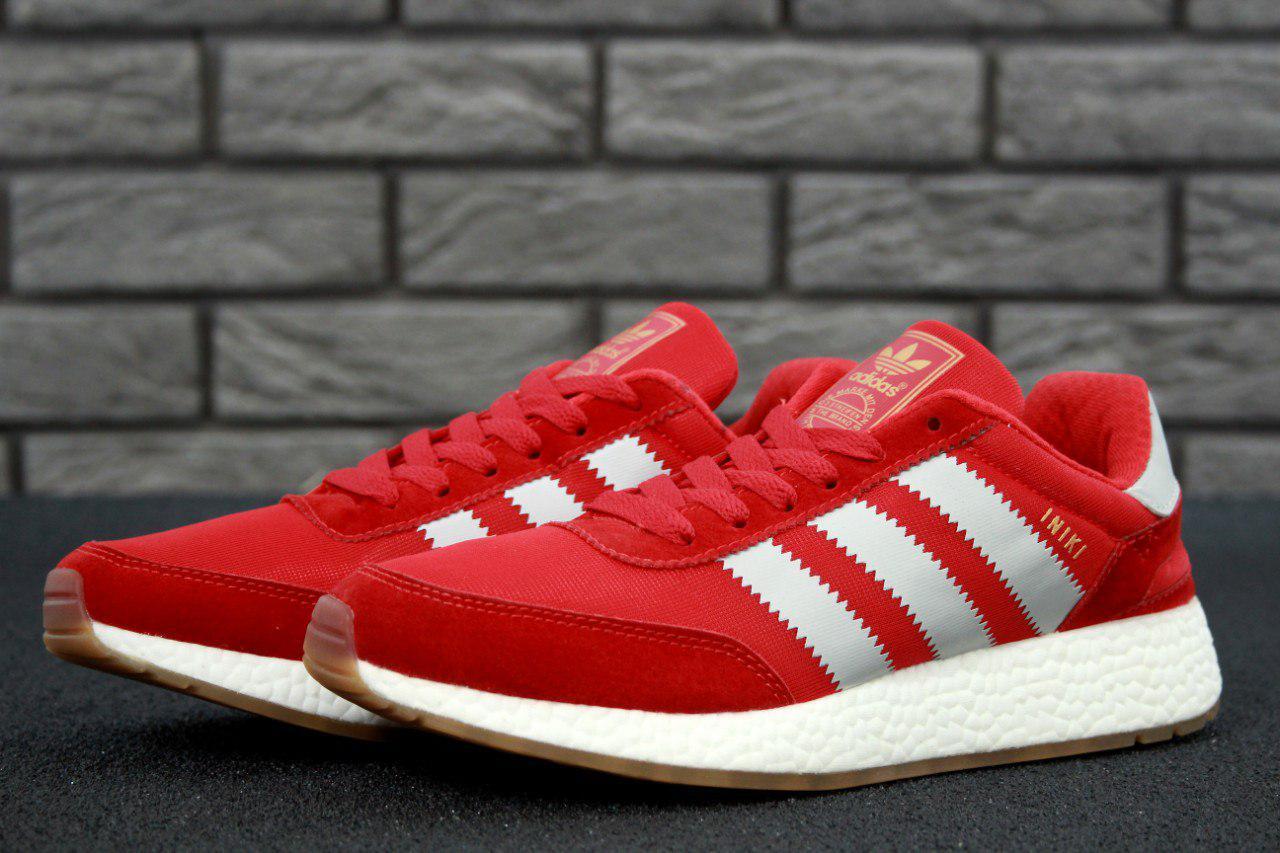 Чоловічі червоні Кросівки Adidas Iniki