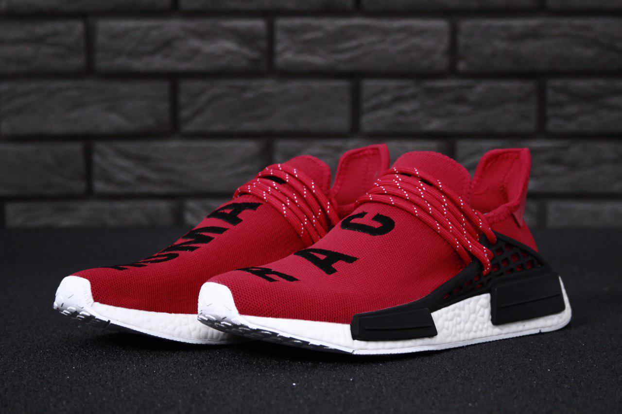 Мужские красные Кроссовки Adidas NMD Human Race