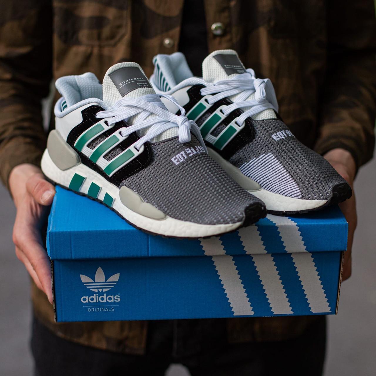 Мужские серые Кроссовки Adidas EQT Support