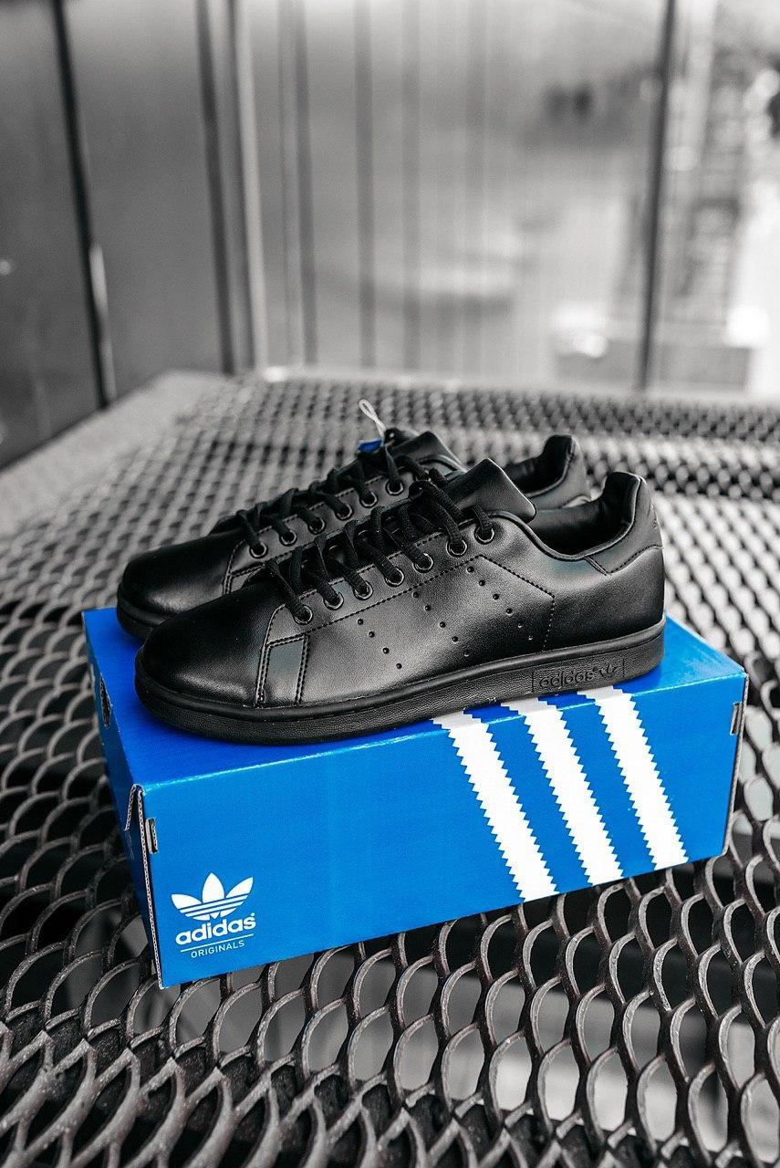 Мужские черные Кроссовки Adidas Stan Smith