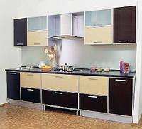 Кухня ЛДСП в пластике + алюминевый профиль под заказ
