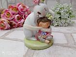 """Статуэтка из керамики """"Кролик с девочкой"""" h 11 см, 240 грн, фото 7"""