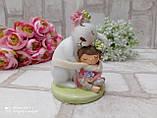 """Статуэтка из керамики """"Кролик с девочкой"""" h 11 см, 240 грн, фото 2"""