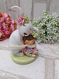 """Статуэтка из керамики """"Кролик с девочкой"""" h 11 см, 240 грн, фото 8"""