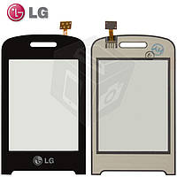 Touchscreen (сенсорный экран) для LG T315, черный, оригинал