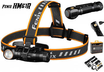 Налобный и ручной фонарь FENIX HM61R+Аккумулятор 3500mAh (1200LM, LUMINUS SST40, 18650, IP68, USB, Red Light)