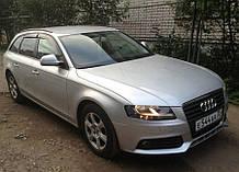 Дефлектори вікон (вітровики) Audi A4 Avant (B8/8K) 2008-2011 (Ауді А4 Авант) Cobra Tuning