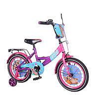 """Двухколесный детский велосипед 16"""" от 4 лет TILLY Cute для девочек с учебными колесиками"""