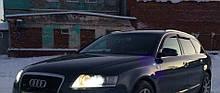 Дефлектори вікон (вітровики) Audi A6 Avant (4F/С6) 2005-2011 Cobra Tuning