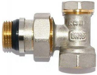 KP вентиль радиаторный антипротечка настроечный угловой 1/2x1/2 (KR.902-Gi)