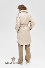 Плащ - сорочка жіноча стьобана з поясом демісезонне розміри 42-50, фото 3
