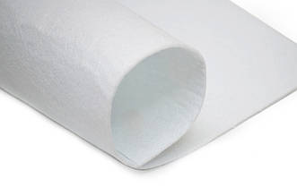 Фетр листовой, белый, 2мм, 50х40