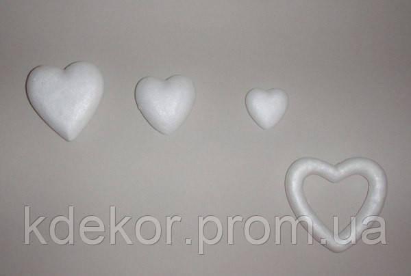 Сердце из пенопласта №1 (9см.)