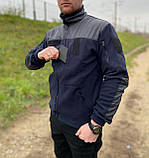 КОФТА ФЛІСОВА ТЕМНО-СИНЯ, фото 2