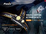 Налобный фонарь FENIX HM65R Raptor+Аккумулятор 3500mAh (1400LM, XM-L2 U2+XP-G2 R5, 1*18650, IP68, USB), фото 2
