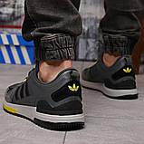 Кроссовки мужские демисезонные Adidas Zx 700 HO темно-серые, фото 4