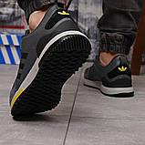 Кроссовки мужские демисезонные Adidas Zx 700 HO темно-серые, фото 5
