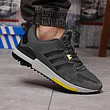 Кроссовки мужские демисезонные Adidas Zx 700 HO темно-серые, фото 6
