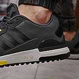 Кроссовки мужские демисезонные Adidas Zx 700 HO темно-серые, фото 8