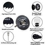 XCAN сталь HSS Дискова Пила Набір лез 7шт Інструмент Dremel відрізний диск чорний, фото 2