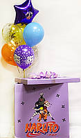 """Коробка-сюрприз """"Наруто"""" велика з наклейками + Гелієві кулі + декор 70х70см"""