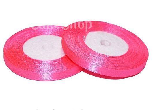 Стрічка атласна яскраво-рожева