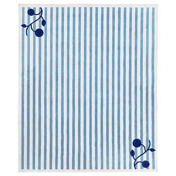 Игровой коврик IKEA с принтом в полоску, бело-голубой 133x160 см