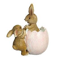 Статуэтка Пасхальные кролики 9х10 см 12007-084