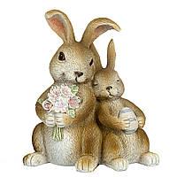 Статуэтка Пасхальные кролики 12х10 см 12007-085