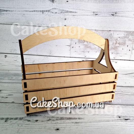 Деревянная корзинка-кашпо