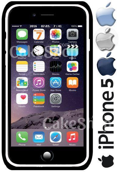 Вафельная картинка Iphone 5