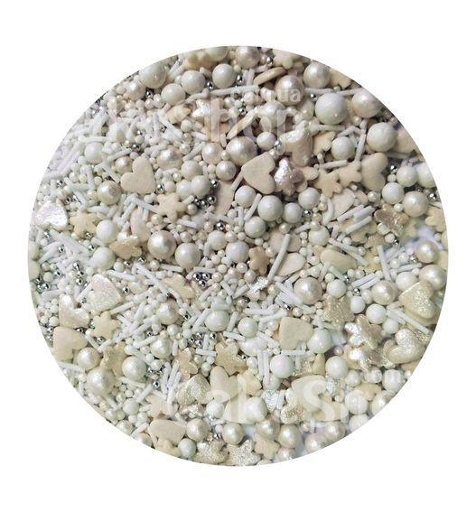 Посипка цукрова Перламутровий мікс з перлами # 1, 50г