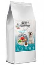 Корм гіпоалергенний для цуценят дрібних порід Форель з рисом і овочами HOME FOOD 10кг