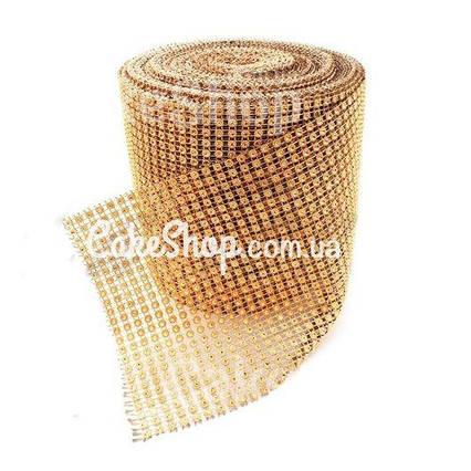Стрічка для декору зі стразами Бризки шампанського 4 см