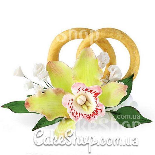 Цукрові фігурки обручки з орхідеєю