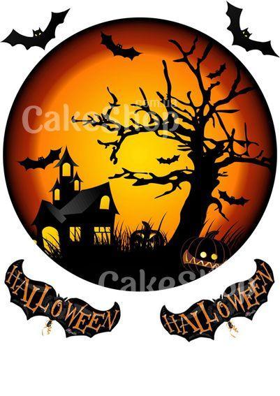 Вафельная картинка Хеллоуин 4