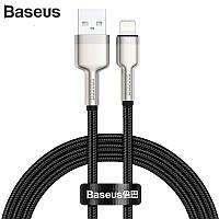 Кабель USB to Lightning для техники Apple шнур лайтнинг на юсб Baseus Cafule Series Metal Data Cable 2.4A 1м