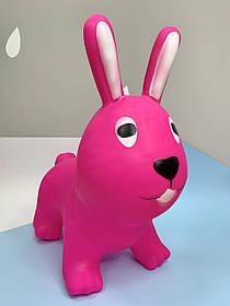 Прыгун резиновый Кролик розовый