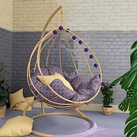 Подвесное кресло из металла в стиле ЛОФТ