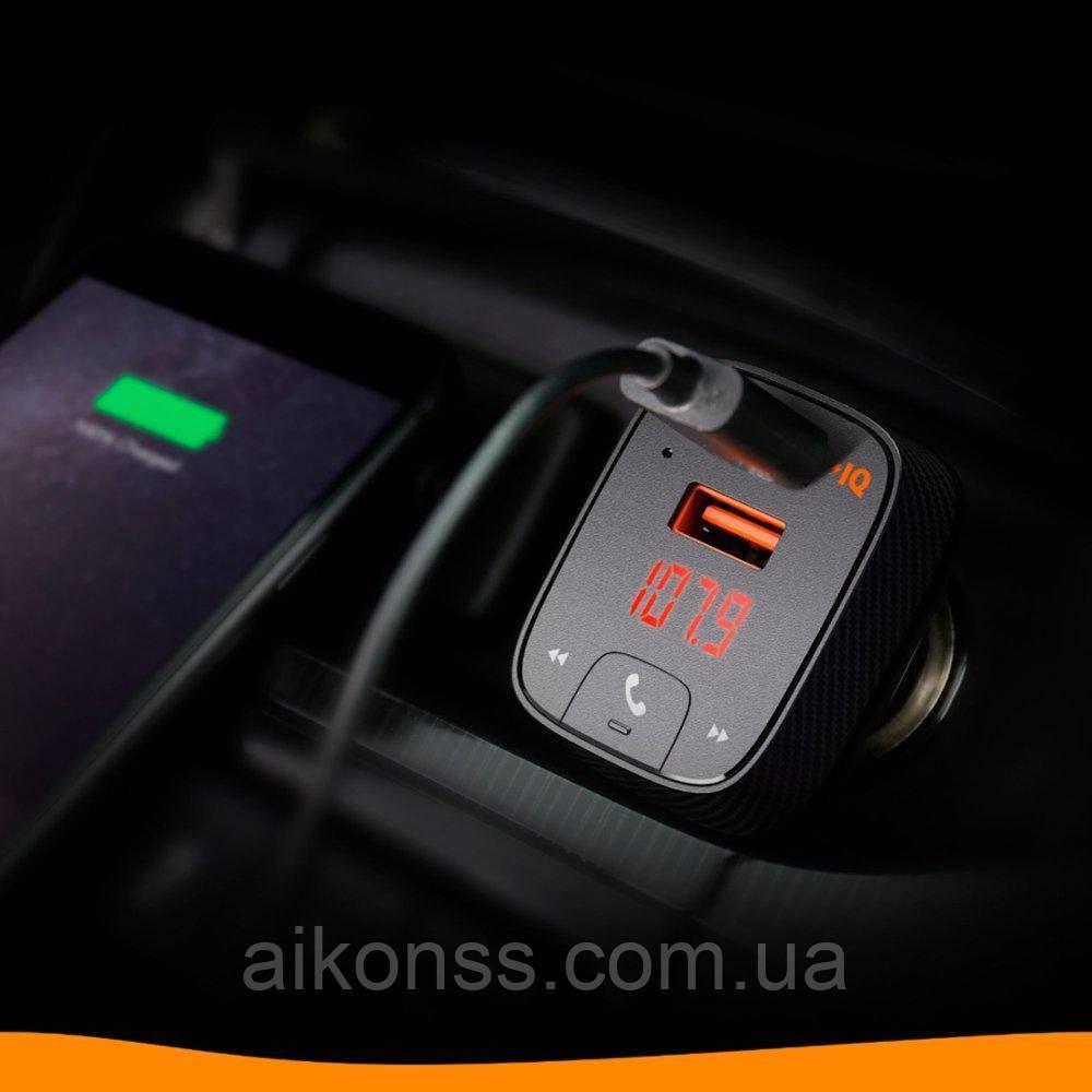 Anker Roav F2 FM-трансмиттер c GPS локатором Bluetooth Громкая связь, разъем 3.5mm  Smart Charge Car 2.4А