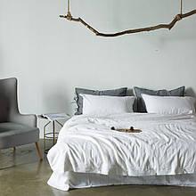 Постільна білизна Bella Villa з вареного бавовни білого кольору