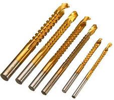Фрезерные сверла 3-8 мм HSS для рассверливания бокового пропила, 6 шт