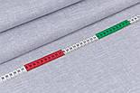 """Поплін шириною 240 см з принтом """"Імітація рогожки"""" сірого кольору (№3354), фото 3"""
